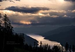 A storm gathers over Kootenay Lake