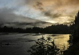 Sunset on the Lardeau River